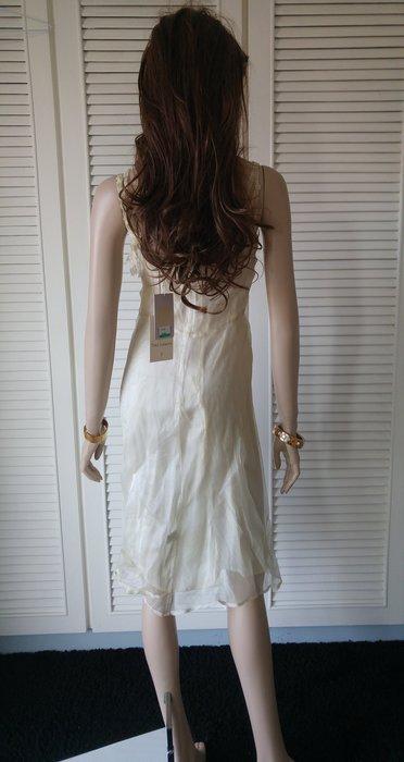 TARA JARMON 法式優雅 白色 100% silk dress 另有wedgwood藍  桃紅色