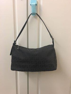 🈹️🈹️100% NEW Fendi黑色真皮加布小手袋 100%真貨 ($3900包郵,不退換)