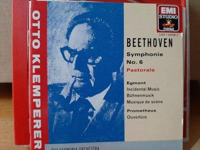 "Klemperer,Beethoven-Sym No.6""Pastorale""克倫培勒指揮愛樂、新愛樂管弦,貝多芬-第6號交響曲""田園"",艾格蒙、普羅米修斯序曲"