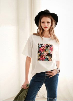 =DiuDiu=早班車5076 韓國 首爾時尚精品 東大門同步上新 短袖圓領套頭t恤 大碼寬鬆顯瘦女上衣