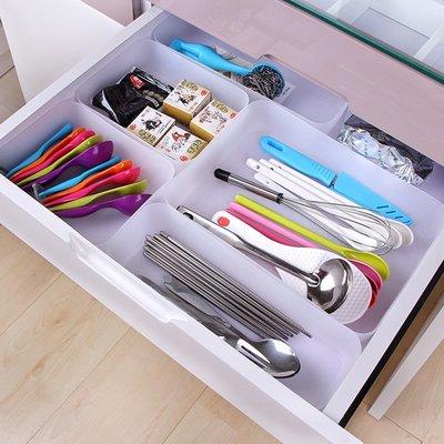 家居收納 收納整理 日式塑料收納盒櫥柜抽屜分隔收納盒廚房餐具筷子分類整理盒收納盒