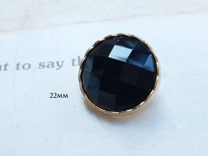 DAda緞帶‧I35108-22mm高品質.隱調奢華.黑鑽金鈕扣1個$15.台灣製