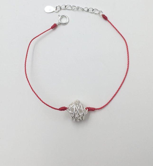 [Le Bonheur Line] 幸福線 手工/925純銀 毛線球 /手鍊 redline 飾品 紅線 銀飾 逗貓