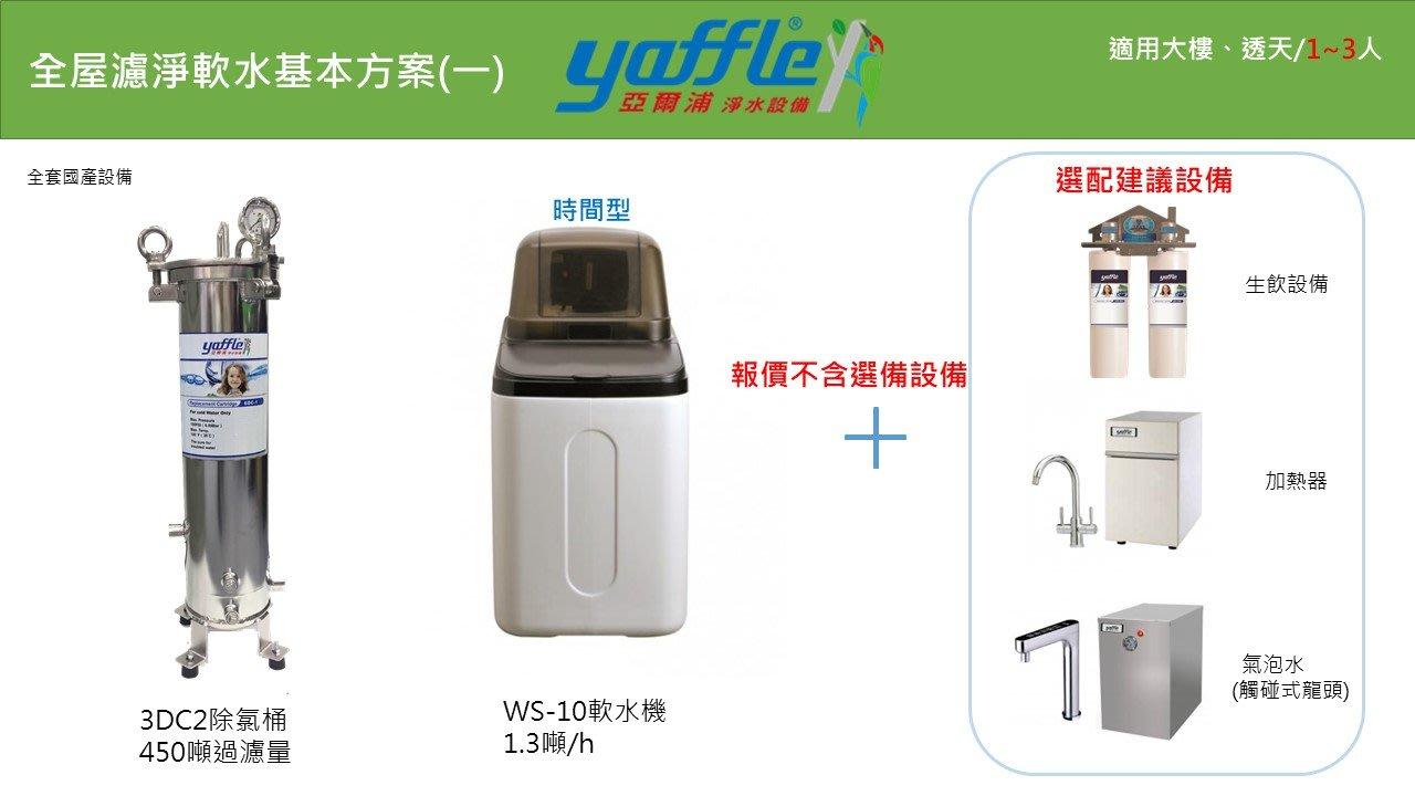 (誠寶衛材)全屋式淨水器~德國格溫拜克~亞爾浦,讓全家人無憂無氯(3DC2除氯桶,WS-10軟水機)