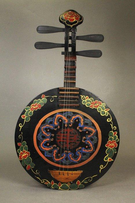悅年堂 --- 大漆加彩 古琴 月琴