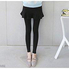 【Hao Da】全館399免運↘「M~XL。現貨」保暖彈力刷毛 甜美假兩件荷葉裙內搭褲 (P1055)