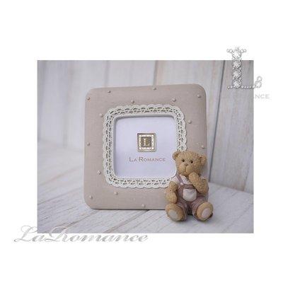 【義大利 Cupido & Company 特惠系列】 咖啡色男生小熊方形2 x 2相框 / 泰迪熊 / 童趣動物