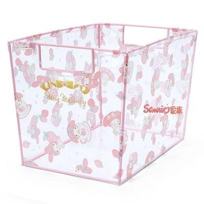 《東京家族》日本 三麗鷗 Melody美樂蒂 透明 收納桶 儲物箱 置物箱