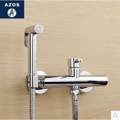 【優上】冷熱增壓手持花灑婦洗器淋浴噴頭馬桶閥龍頭套裝「C款圓形」