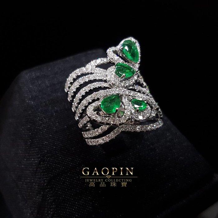 【高品珠寶】1.12克拉設計款祖母綠戒指 女戒 環戒 母親節禮物 18K (已售出可訂製) #3184