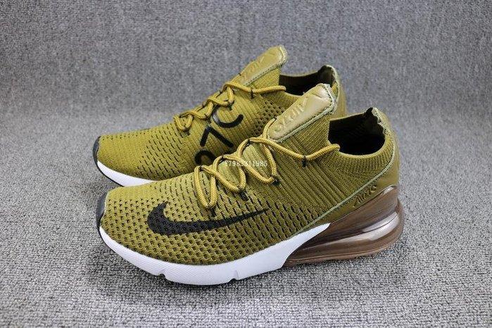 Nike Air Max 270  綠色 經典復古 氣墊 休閒運動慢跑鞋 男鞋 AO1023-300