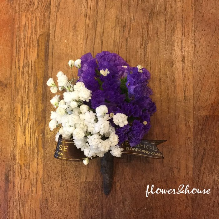 H11。伴郎胸花。新郎胸花。拍照胸花。招待胸花。客製胸花。台北自取【Flower&House花藝之家】