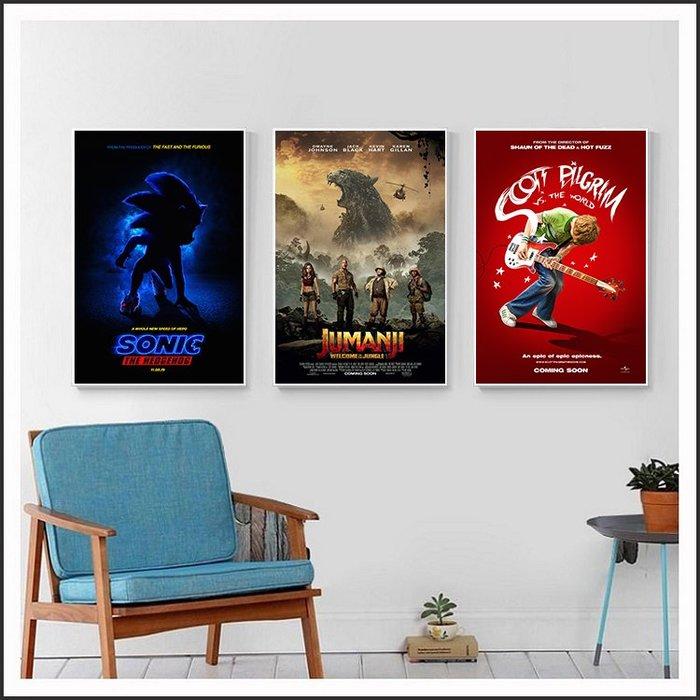 音速小子 野蠻遊戲 瘋狂叢林 全面晉級 歪小子史考特 電影海報 藝術微噴 掛畫 嵌框畫 @Movie PoP 多款海報~