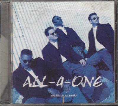 合而為一 合唱團 ALL 4 ONE - AND THE MUSIC SPEAKS CD