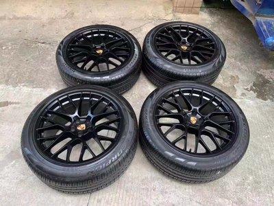 【YGAUTO】二手時間 Porsche 保時捷 Macan 德國原廠二手 20吋鋁圈含倍耐力 pzero 輪胎