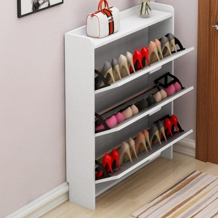 促銷超薄木鞋櫃家用鞋櫥翻斗門口廳玄關櫃收納神器省空間陽臺簡易鞋架 宜室