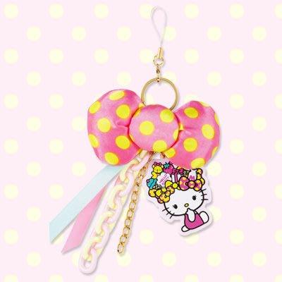 *凱西小舖*日本進口三麗歐正版KITTY凱蒂貓盛裝禮物系列手機吊飾