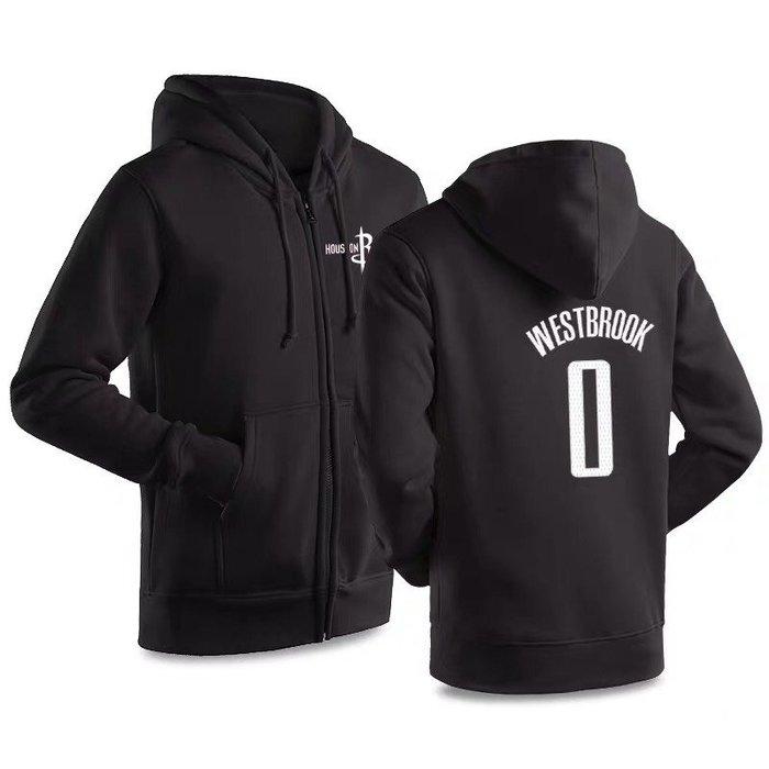 💖威少Russell Westbrook純棉運動厚外套💖NBA球衣火箭隊Adidas愛迪達棒球籃球休閒薄夾克男979