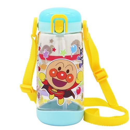 【東京速購】日本代購 麵包超人 Anpanman 吸管式 冷水壺 背帶水壺 彈跳水壺 450ml