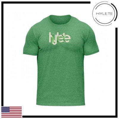 ►瘋狂金剛◄青綠色  HYLETE overlap tri-blend crew tee 柔軟 透氣 短袖T恤