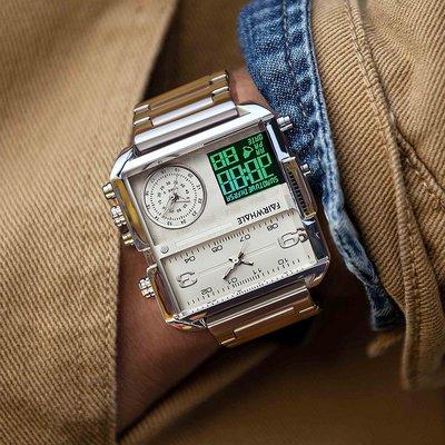 個性手錶馬克華菲品牌手表男士多功能防水學生潮牌電子表個性潮牌男表石英