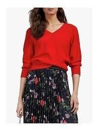 ❃A&EJ Studio❃英國Ted Baker全新高質感優雅甜美紅色V領針織衫 size S/M 台灣現貨商品