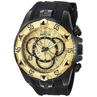 Invicta  Excursion 24277  Silicone, Stainless Steel Chronograph  Watch