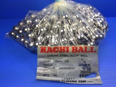 11/16 鋼珠 軸 17.46 JAPAN BEARING NACHI Chrome steel ball 鉻鋼珠