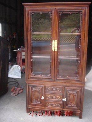 小o結緣館仿古傢俱....三抽四門玻璃...