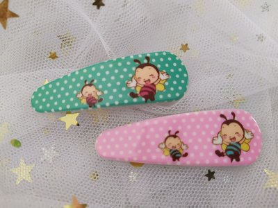 (清貨$8 一對)(原價$10)新款 日韓款 簡單  清新 可愛 小蜜蜂 拍拍夾 髮夾 頭夾(滿$60包郵)(郵費$5)