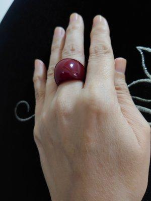紅玉髓橢圓戒指