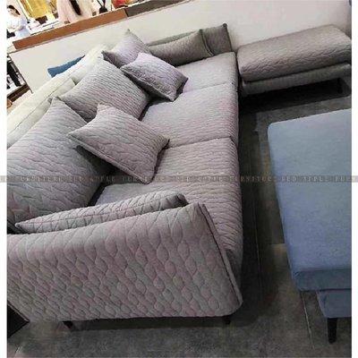 [紅蘋果傢俱]JX-K17009 L型椅 棉麻沙發椅 布藝沙發 沙發椅 簡約 歐式