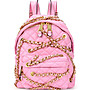 Coco小舖 Moschino Chains Quilted Leather Backpack 粉紅色 金鍊 後背包