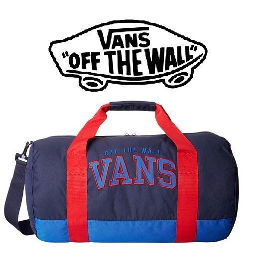 【VANS】滑板潮牌㊣ 紅藍撞色x肩背可拆卸 旅行袋/籃球袋/運動背包【現貨免運】↗小夫妻精品嚴選↖