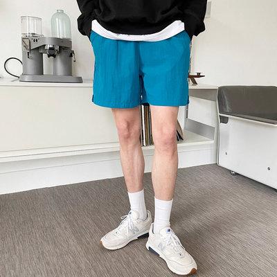 正韓男裝 羅列特盛夏純色抽繩短褲 SET UP / 4色 / NMO2168 KOREALINE 搖滾星球