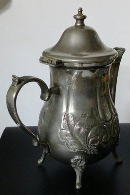131 高級英國鍍銀壺  English silver plated Footed Metal Teapot