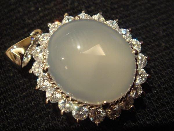 賣家珍藏,全新從未戴過的天然水晶白玉髓墜子白k檯子,低價起標無底價!本商品免運費!