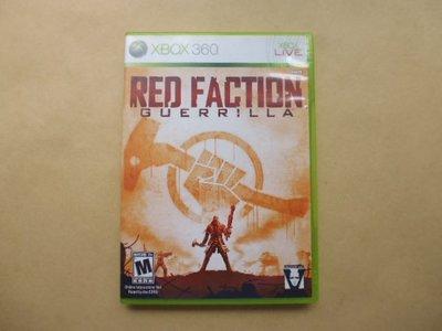 明星錄*2009年墨西哥版.RED FACTION GUERRILLA LIVE二手遊戲光碟(英文版.附英文說明書)(s