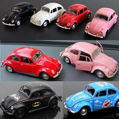 玩具車仿真復古老爺車模型擺件裝飾合金甲殼蟲回力小汽車兒童卡通玩具車