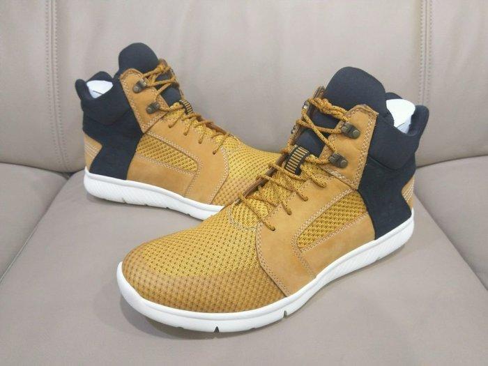 Timberland 經典小麥色 編織 透氣 休閒 高筒鞋 size:us10w