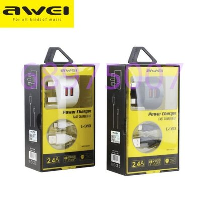 JL sis  Awei  C - 940 2 USB 5V Charger Adapter