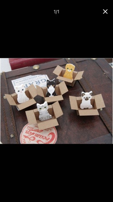 創意可愛紙箱貓咪N次貼,可愛小貓便簽貼喵星人便利貼留言隨手貼 贈品 禮品