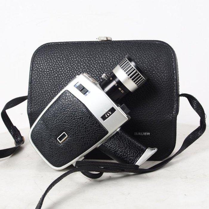 百寶軒 德國古董鮑爾BauerC22超8毫米8mm電影膠片攝影機功能正常帶箱 ZG1748