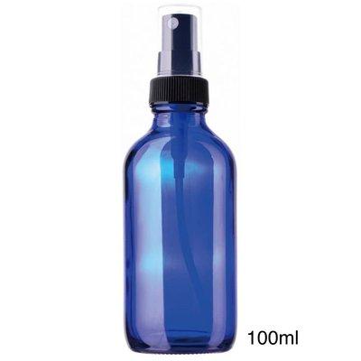【現貨】臺灣製??100ml玻璃噴霧瓶【藍色避光玻璃噴霧瓶】