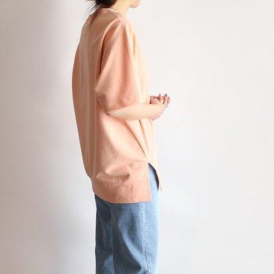 正韓 粉彩圓領下擺開岔 短袖上衣 / 舒適有彈性 (多色彩) 【A0485】