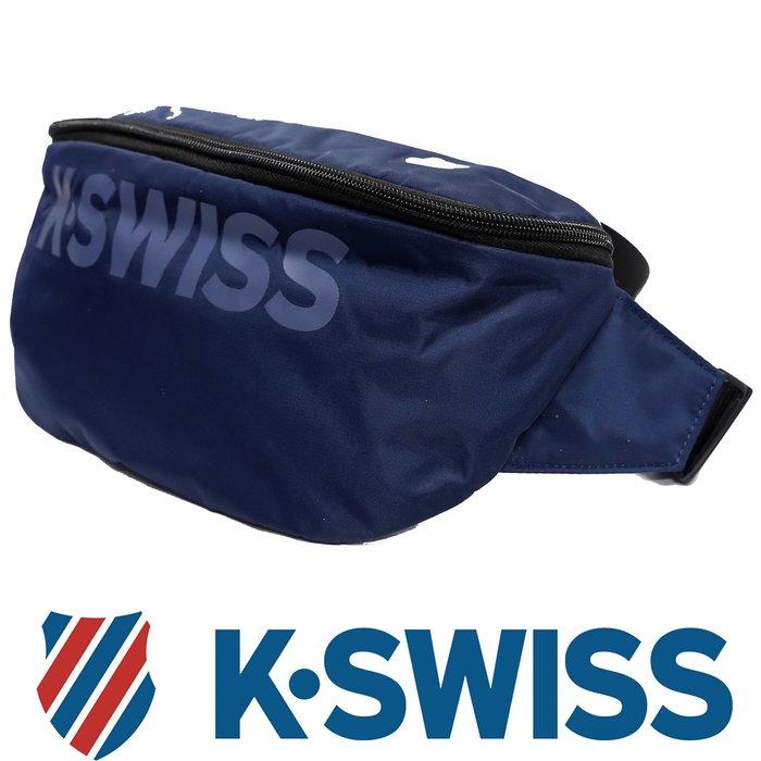 鞋大王K-SWISS BG032-(400藍色)、008(黑色) 30×10×17㎝休閒運動大腰包【特價出清,免運費】