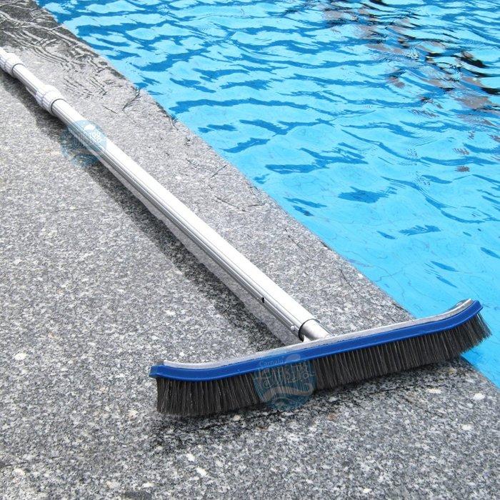 【奇滿來】游泳池設備 清潔用品 魚池水井池  清潔刷 18吋不鏽鋼青苔刷 不含伸縮桿 桿子另購 AQAH