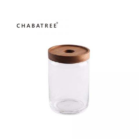 《齊洛瓦鄉村風雜貨》泰國Chabatree 玻璃密封罐 糖果收納罐 密封萬用罐 多功能玻璃收納罐 750ml (中)