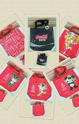 可口可樂  2008奧運合作伙伴 帆布提袋 點心袋便當袋  數量有限