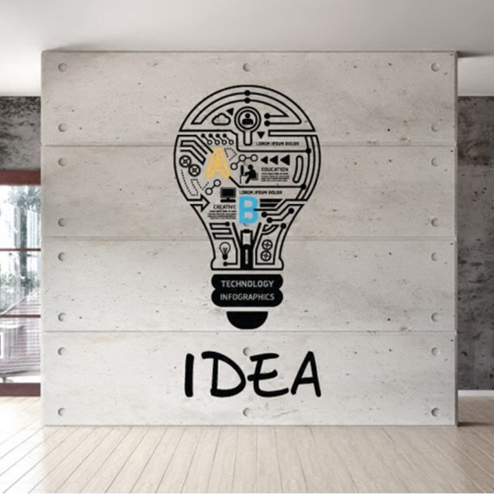 創意壁貼燈泡款標語牆貼家用裝飾辦公室貼紙標識激勵志(小號)_☆優購好SoGood☆